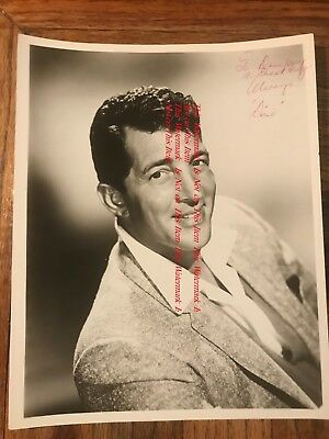 Dean Martin Singer Comedian Actor Entertainer Autographed Dino Photograph #2