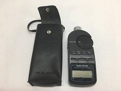 Sound Level Meter with Case Cat. No. 33-2050 Radio Shack USED