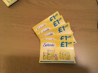 5 x Splenda Sweetener £1 off vouchers valid until 31st January 2019