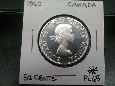 1960 Canada fifty (50) cent silver coin