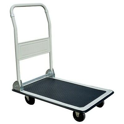 "Folding Platform Dolly Hand Truck Flat Bed 19"" x 29"" Push Cart 330 lb Capacity"