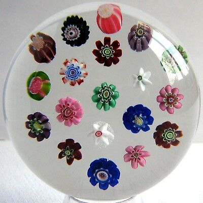 Briefbeschwerer / Paperweight CLICHY 1845 - 1860 Spaced Millefiori