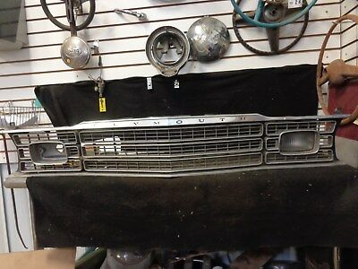 1973-1974  Plymouth Duster, Valiant Grille Panel W/ Single Park Light Lens