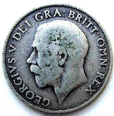 Great Britain Uk Coins, One Shilling 1911, George V, Silver 0.925 .