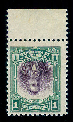 MOMEN: US POSSESSIONS STAMPS #239a INVERTED CENTER 1cCUBA MINT OG NH