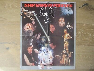 Vintage ORIGINAL 1984 STAR WARS IS FOREVER Action Figure POSTER Kenner FAN CLUB