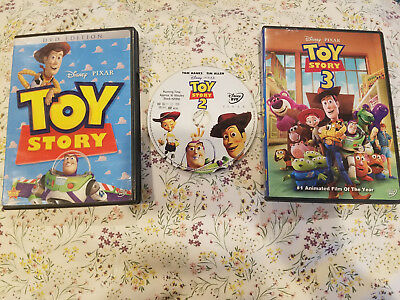 The Toy Story Complete Set - 1 2 3 DVD Lot Trilogy