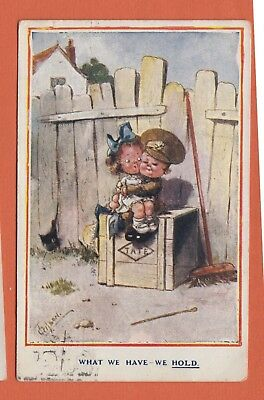 1918 WW1 Gilson Postcard What We Have We Hold