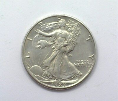 1929-D Walking Liberty Silver 50 Cents  Gem Uncirculated Rare This Nice!