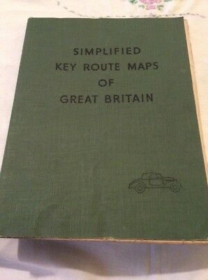 Vintage Simplified Key Route Maps Of Great Britain,in Book Form.