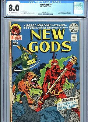 New Gods #7 CGC 8.0 1st Steppenwolf Origin Mister Miracle & Orion DC Comics 1972