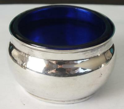 Antique Solid Silver Open Salt & Liner - London 1905 - Corke Brothers & Co (1)