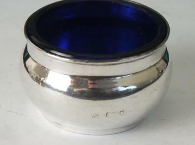 Antique Solid Silver Open Salt & Liner - London 1905 - Corke Brothers & Co (2)