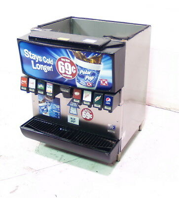 Used SerVend MD-200 8 Head Beverage Dispenser with Ice Dispenser
