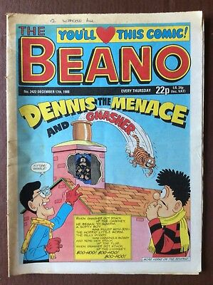 Box L The Beano Comic No 2422 December 17th 1988 Gnasher