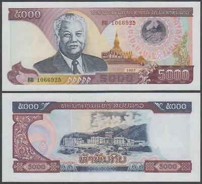 1997 Bank of the Lao PDR 5,000 Kip (Unc)