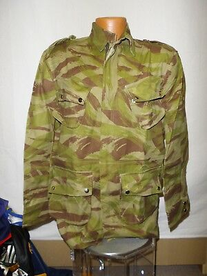 e1996-48 French Indochina Paratrooper Jump Jacket Lizard Camouflage size 48 W11F