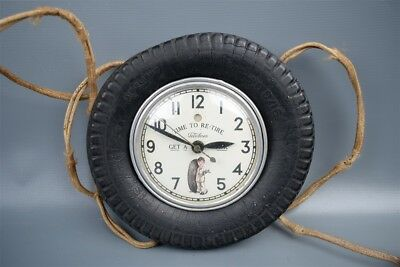 "Vintage late 1920s Telechron ""Time to Re-tire"" Fisk Tires Ad Electric Clock"