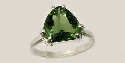 Rare 19thC Antique 2¼ct+ Czech Moldavite Ancient Delphi Greece Apollo Temple Gem