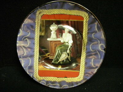 """Vintage/Collectible One Of A Kind Hand Crafted Coca Cola Lady Collector 7"""" Plate"""