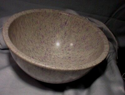 "Large Texas Ware Bowl Purple Confetti Pattern 10"" Round Excellent Condition!"