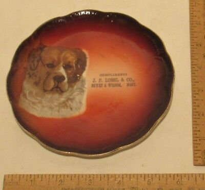 J. P. LOSSL & CO., DEWEY & WISDOM, MONT - Compliments of - DOG plate - Advertise