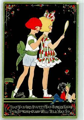 Phyllis Cooper Black doll postcard by TUCK HAPPY LAND 3482