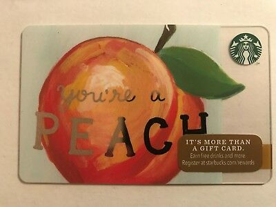 2014 Starbucks Gift Card You're A Peach Unused Pin Intact No Value 6103