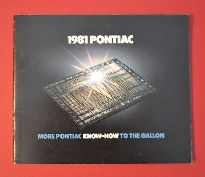 1981 Pontiac Full Line Deluxe 49 Page Sales Brochure