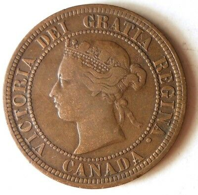 1876 H CANADA CENT - Rare Date - High Value Coin - Lot #D12