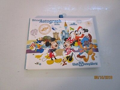 Walt Disney World Official Autograph Book w 5 pages of autographs rest empty