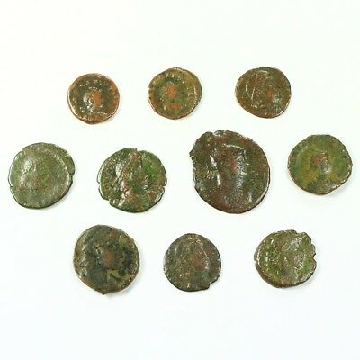 Ten (10) Nicer Ancient Roman Coins c. 100 - 375 A.D. Exact Lot Shown rm3511