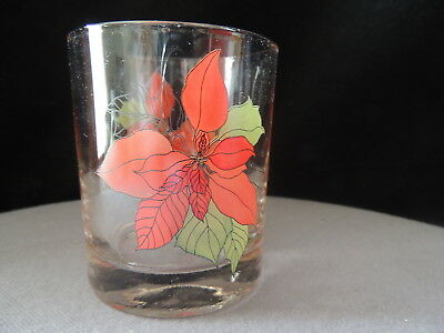 Block Spal - Poinsettia by Mary Lou Goertzen - 4 Old Fashioned Glasses - BOX!