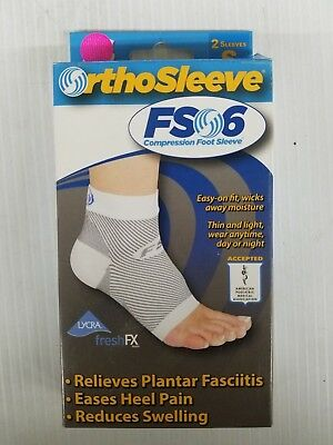 OrthoSleeve FS6 Compression Foot Sleeve Fasciitis Heel Pain Swelling Tendonitis