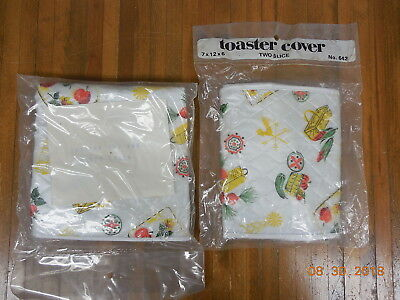 2 pc Vintage 1960s Toaster & Mixer Vinyl Covers Matching Set  Never Used  @