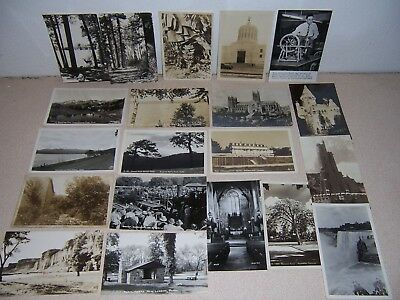 1910s-1950s USA REAL-PHOTO RPPC POSTCARD LOT of 20 DIFF.