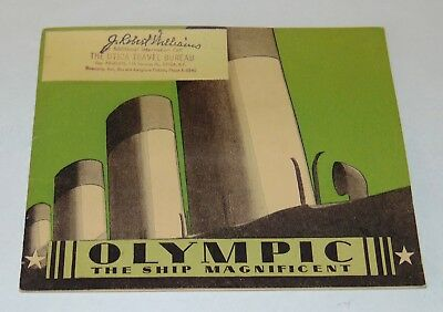 ANTIQUE 1920'S OLYMPIC THE SHIP MAGNIFICENT Booklet WHITE STAR LINE