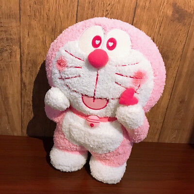 New Pink Doraemon with heart plush Toy 40CM Gift Japan Cute