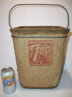 1950's Vtg 7 UP 7UP PAPER MACHE' / MINNOW BUCKET~Jardee MILWAUKEE, WI
