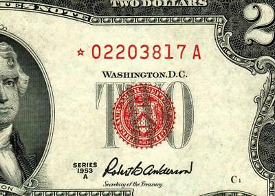 ** STAR ** $2 1953A United States Note  ** MORE CURRENCY FOR SALE **
