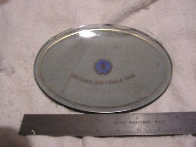 Aboard Air Force One Lyndon Baines Johnson Glass Plaque President LBJ