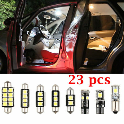 23x LED White Car Inside Light Dome Trunk Mirror License Plate Lamp Bulbs DC 12V