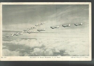 US NAVY AIRCORP Squadron of Scout Bombers Postcard airplanes