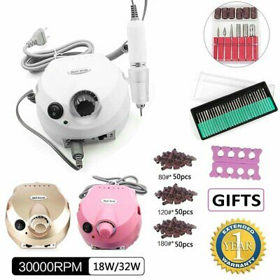 30000RPM Electric Nail Drill Machine Manicure Pedicure Art Acrylic Nail File Set