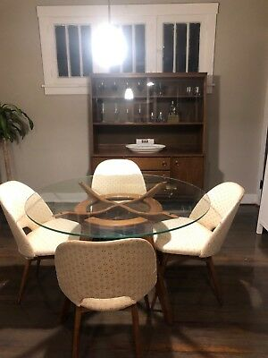 MidCentury Modern Dining Set with Credenza