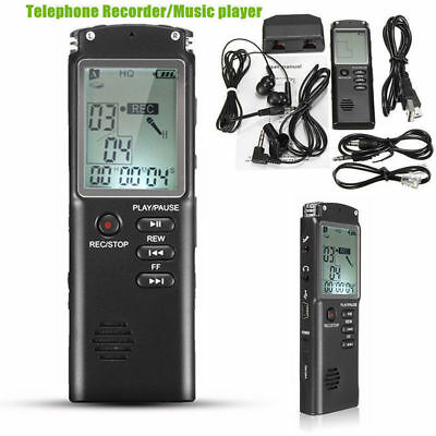 8Gb Registratore Audio Vocale Portatile Mp3 Lettore Lcd Digitale Voice Recorder
