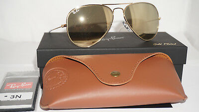 f537b334ca RAY BAN New Sunglasses Aviator 24K Carat Gold Only 500 Limited RB3025 135