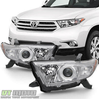 For 2011 2012 2013 Toyota Highlander Projector Headlights Headlamps Left+Right