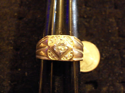 bling gold plated ICED OUT cubic SOLITAIRE FASHION ring hip hop JEWELRY sze 12.5