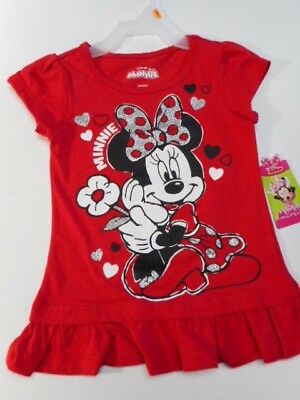 Minnie Mouse Toddler shirts Girls clothes Baby girls shirts Disney Red Tee 2T-4T
